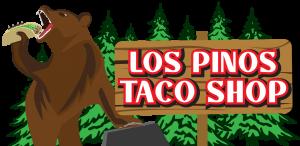 Los Pinos Taco Shop Bear Logo